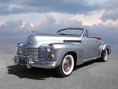 Bygone Era - 1941 Cadillac Convertible Poster by Gill Billington