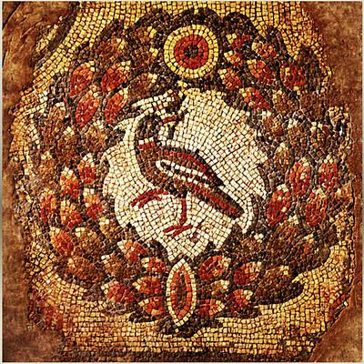 Byzantine Bird Poster by Asok Mukhopadhyay