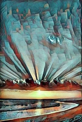 Byzantine Style Painting Poster by Anita Fugoso