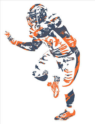C J Anderson Denver Broncos Pixel Art 6 Poster
