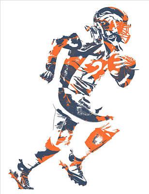 C J Anderson Denver Broncos Pixel Art 7 Poster