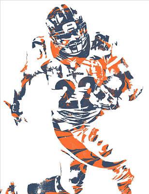 C J Anderson Denver Broncos Pixel Art 8 Poster