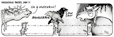 Caaw Caaw Fpi Cartoon Poster