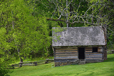 Cabin At Zebulon Vance Birthplace Poster