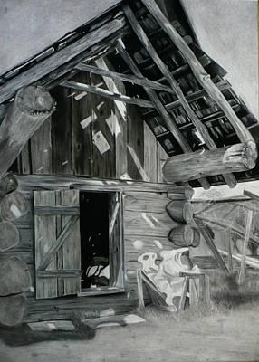 Cabin Barn Poster by Nicholas Nguyen