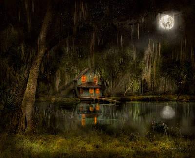 Cabin - De Land, Fl - Restless Night 1904 Poster by Mike Savad