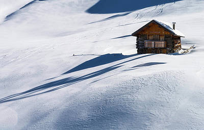 Cabin In Winter Poster by Carlo Trolese