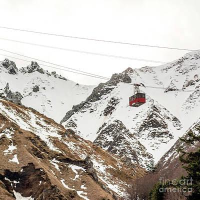 Cable Car In Puy De Sancy. Auvergne. France Poster