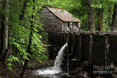 Poster featuring the photograph Cable Grist Mill by Andrea Silies
