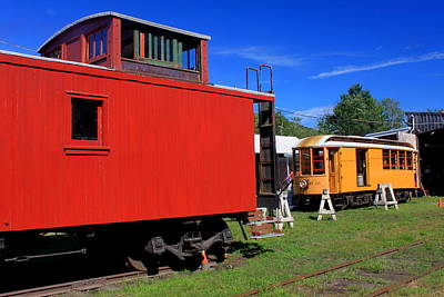 Caboose At Shelburne Trolley Museum Poster