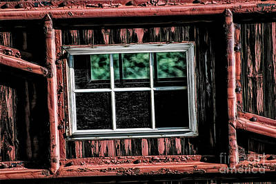Poster featuring the photograph Caboose Window by Brad Allen Fine Art