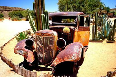 Poster featuring the photograph Cactus Car by Riana Van Staden