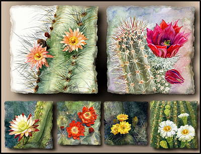 Poster featuring the painting Cactus Collage 10 by Marilyn Smith
