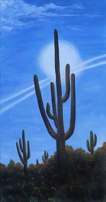 Cactus Halo Poster by Judy Filarecki