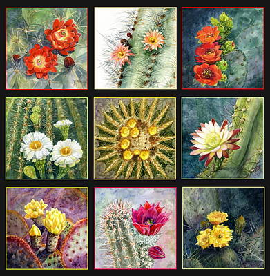 Poster featuring the painting Cactus Series by Marilyn Smith