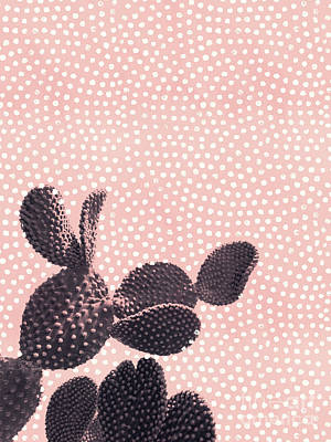 Cactus With Polka Dots Poster