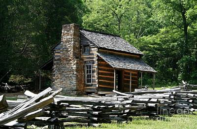 Poster featuring the photograph Cade's Cove Cabin by John Black
