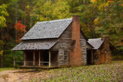 Cades Cove Cabin Poster by Jonas Wingfield