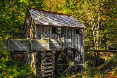 Cades Cove John Cable Grist Mill - 1 Poster by Frank J Benz