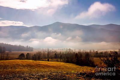 Cades Cove Misty Morn Poster