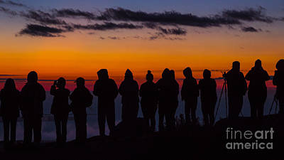 Cadillac Mountain Sunset.  Poster
