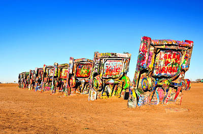 Cadillac Ranch Poster by Edwin Verin