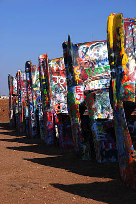 Cadillac Ranch Route 66 Poster by Susanne Van Hulst
