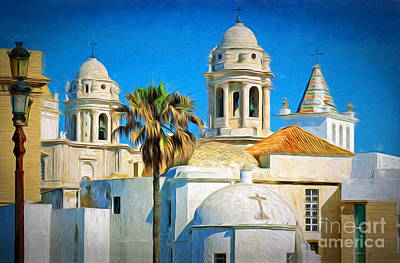 Cadiz Cathedral Poster by Sue Melvin