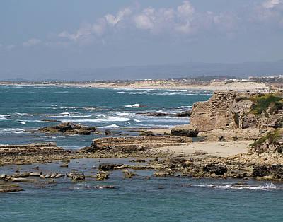 Caesarea Seascape Israel Poster
