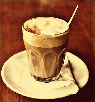 Cafe Au Lait Poster by Georgiana Romanovna