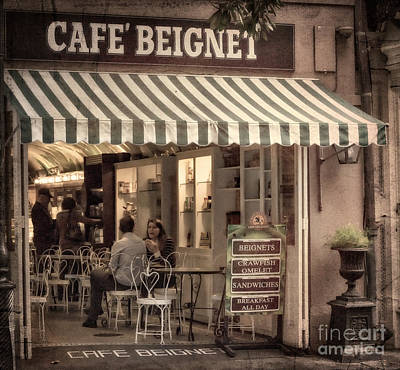Cafe Beignet 2 Poster by Jerry Fornarotto