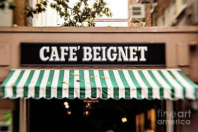 Cafe' Beignet Poster by Scott Pellegrin