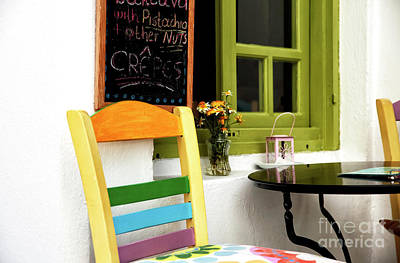 Cafe Chair Colors In Chora Poster