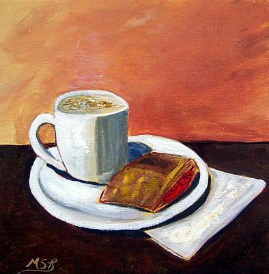 Cafe Con Leche Y Pastelito De Guayaba Poster