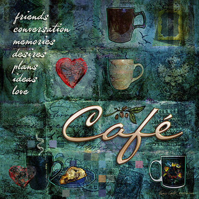 Cafe Poster by Evie Cook