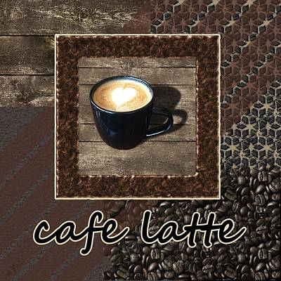 Cafe Latte - Coffee Art Poster