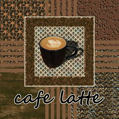 Cafe Latte - Coffee Art - Caramel Poster
