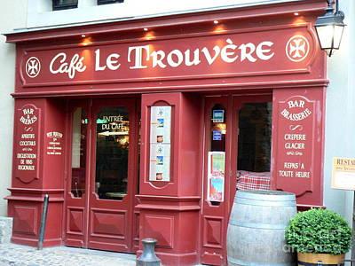 Cafe Le Trouvere Poster
