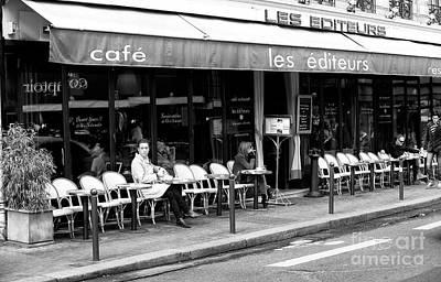 Cafe Les Editeurs Poster