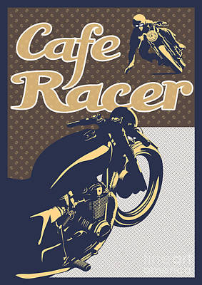 Cafe Racer Poster by Sassan Filsoof