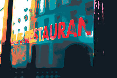 Cafe Restaurant  Poster by Shay Culligan