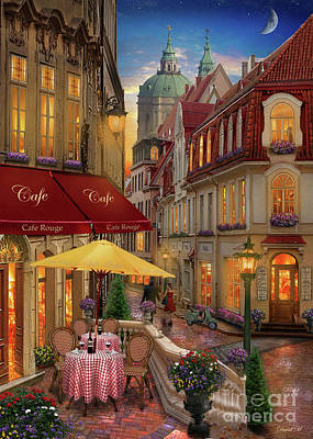 Cafe Rouge Poster by MGL Meiklejohn Graphics Licensing