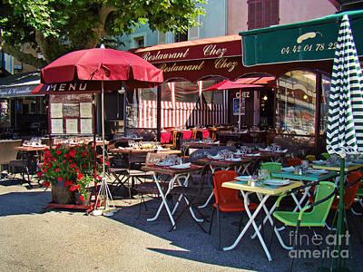 Cafe Scene In France Poster