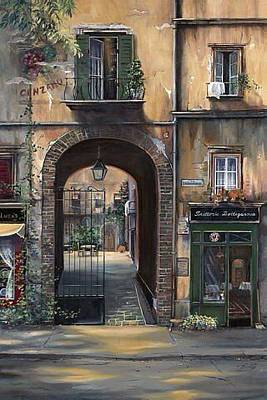 Cafe Sienna Italy Poster by Barbara Davies