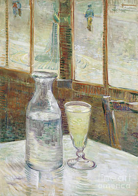 Cafe Table With Absinth Poster by Van Gogh