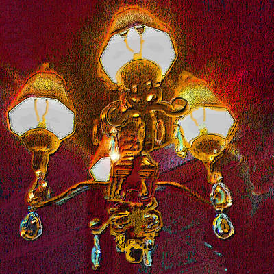Cafe Chandelier Poster by ARTography by Pamela Smale Williams