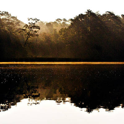 Poster featuring the photograph Cahooque Creek Sunrise by Bob Decker