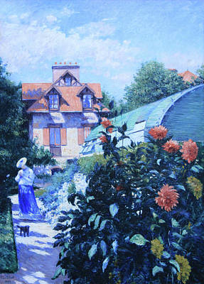 Caillebotte's Dahlias, Garden At Petit Gennevilliers Poster by Cora Wandel