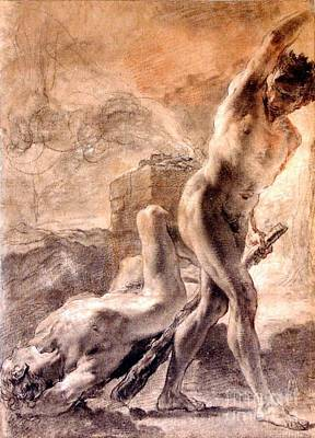 Poster featuring the painting Cain And Abel by Pg Reproductions