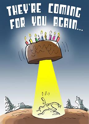 Cake Spaceship Poster